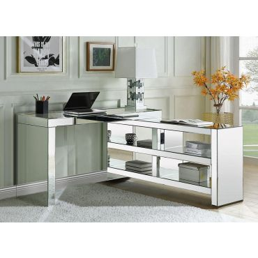 Perna Mirrored Office Desk