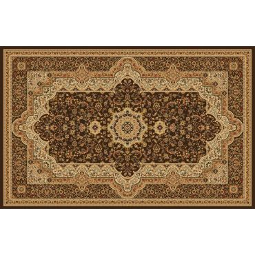 Persian Style Area Rug Collection T06 Brown