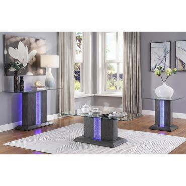 Pervis Coffee Table With LED Light