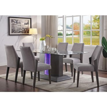 Pervis Modern Glass Top Dining Table