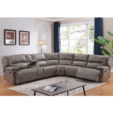 Peter Fabric Recliner Sectional Set