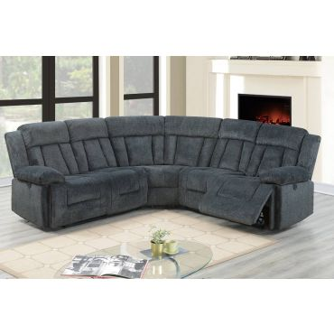 Peter Grey Chenille Power Recliner Sectional