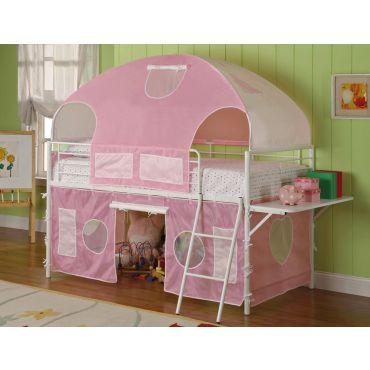 Aliyah Pink Tented Loft Bed
