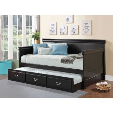 Poster Classic Black Finish Day Bed