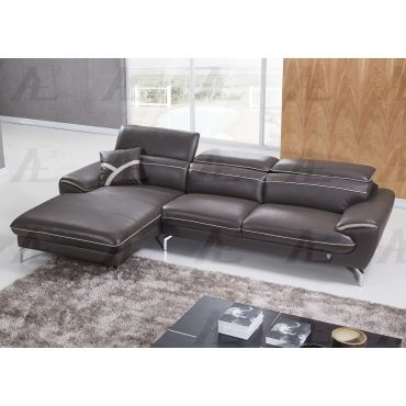 Carlotta Ivory Genuine Leather Sectional