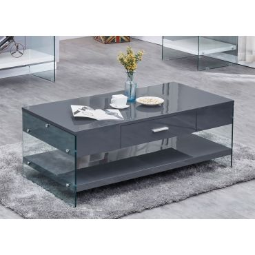 Preva Modern Coffee Table Gray Lacquer