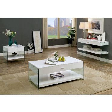 Preva White Lacquer Coffee Table