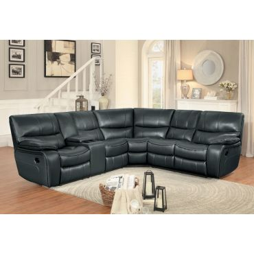 Pulsar Recliner Sectional With Console,Pulsar Power Recliner Sectional With LED Lights,Pulsar Power Recliner Sectional With Extra Armless Chair