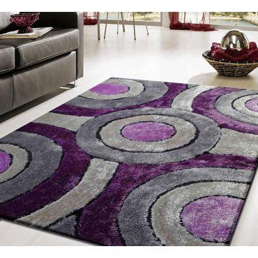 Purple Living Shag Modern Rug