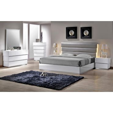 Pyramid Modern Lacquer Finish Bed