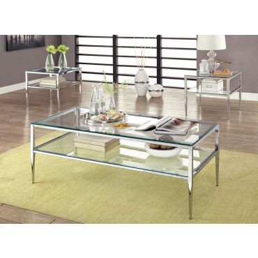Pyrgos Glass Top Coffee Table