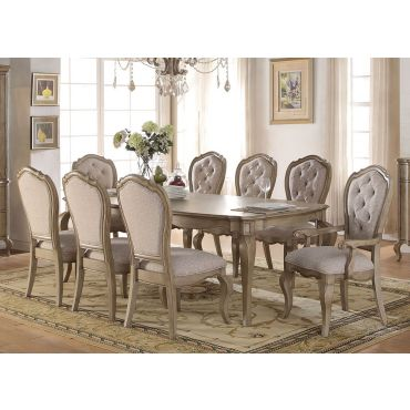 Quimby Antique Taupe Dining Table Set