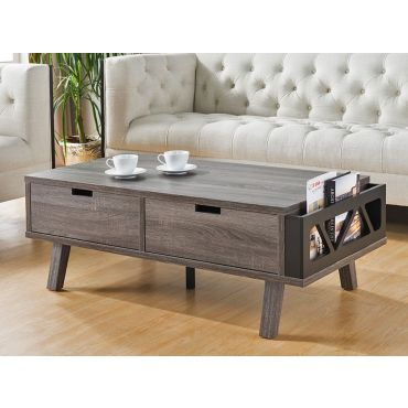 Raeburn Rustic Grey Finish Coffee Table