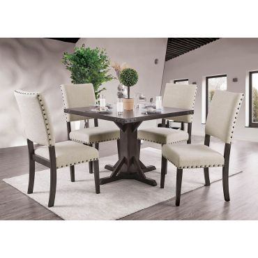 Ralphie Industrial Square Dining Table Set