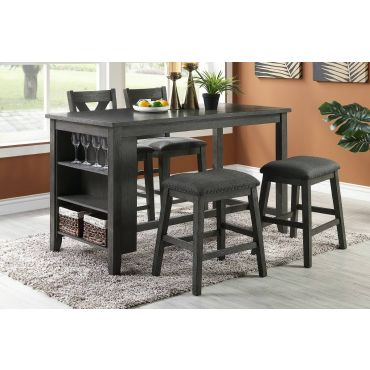 Ramon Kitchen Island Counter Height Table Set