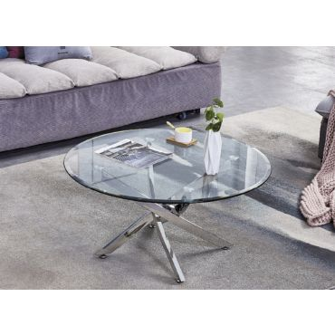 Ramsdell Modern Glass Top Coffee Table