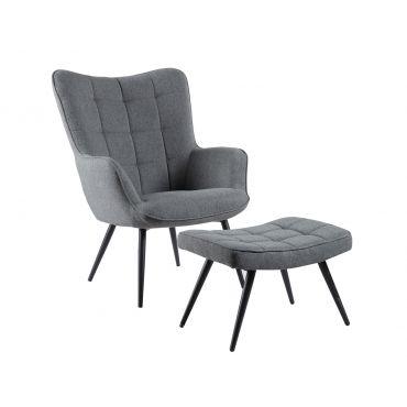 Rana Accent Chair With Ottoman