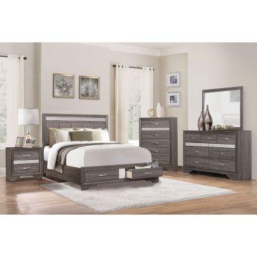 Redondo Rustic Grey Finish Bedroom Set