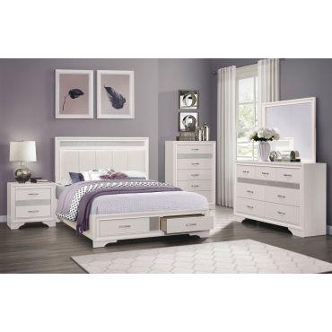 Redondo White Finish Bedroom Set