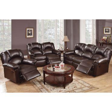 Reed Espresso Leather Motion Sofa