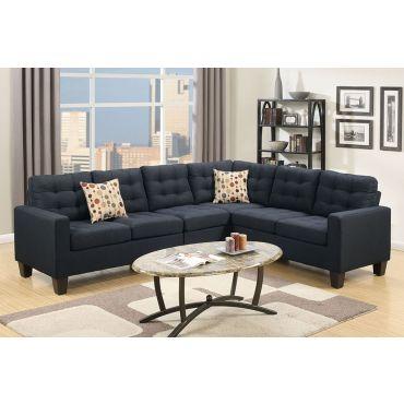 Stanza Microfiber Sectional Sofa