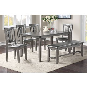Regan Dining Table Set With Bench