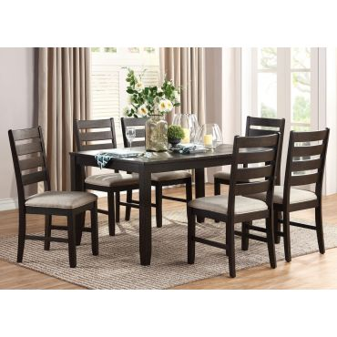 Remy Distressed Wood Dining Table Set