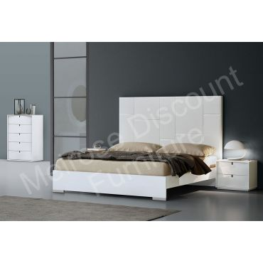 Renaissance High Glossy White Bed Collection