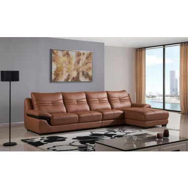 Renata Top Grain Leather Sectional Couch