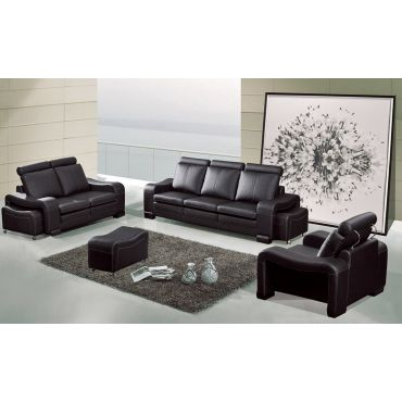 Rene Contemporary Leather Sofa Set