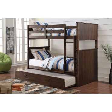 Rexford Rustic Brown Finish Bunkbed