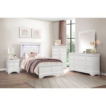 Rhonda White Finish Youth Bedroom Collection
