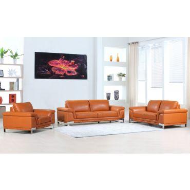 Richard Camel Color Leather Sofa