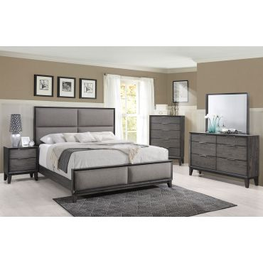 Rigley Bedroom Furniture Rustic Gray Finish