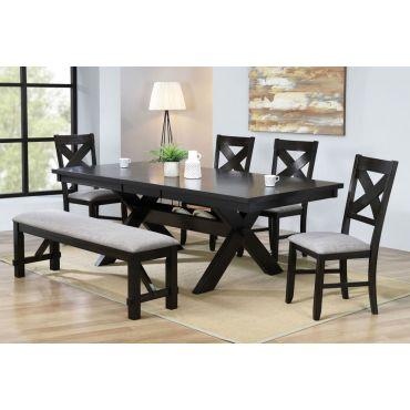 Ripton Black Finish Dining Table Set