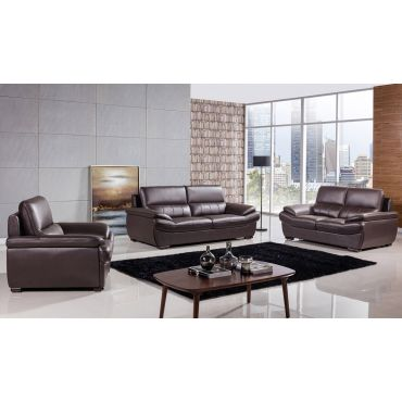 Rogelio Chocolate Genuine Leather Sofa