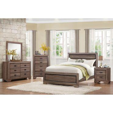 Rollan Rustic Finish Bedroom Furniture