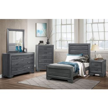 Rollan Youth Bed Rustic Gray Finish