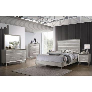 Rosaline Metallic Sterling Youth Bedroom