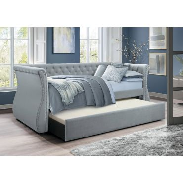 Josie Tufted Linen Daybed With Trundle