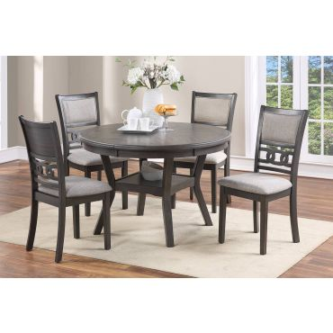 Rotary Round Dining Table Set