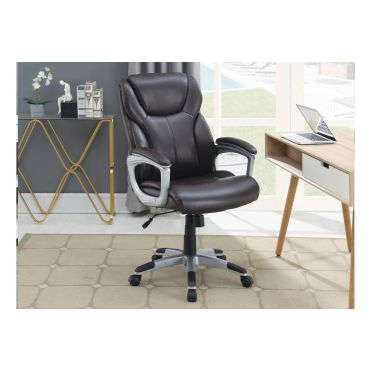 Rowan Brown Leather Office Chair