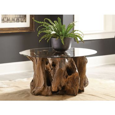 Rustic Stump Coffee Table