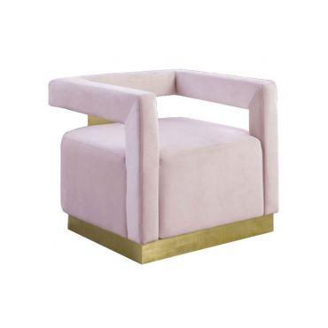Saba Pink Velvet Modern Accent Chair