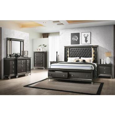 Oceanview Storage Bed With LED Light