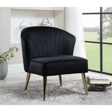 Safavieh Black Velvet Accent Chair