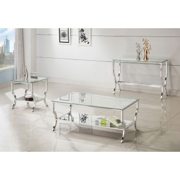 Salem Mirror Accented Coffee Table Set