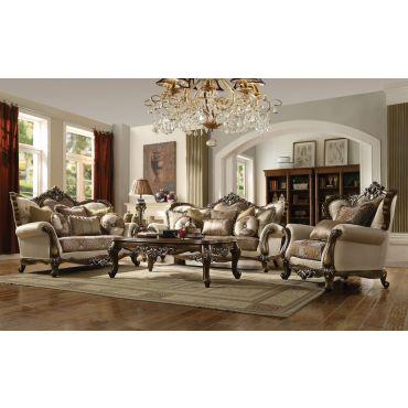 Salvatore Victorian Style Fabric Sofa Set
