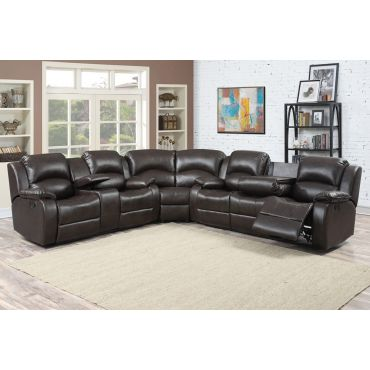 Samara Recliner Sectional With Console
