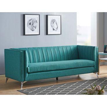 Samira Turquoise Fabric Sofa